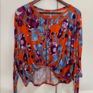 Free People Floral Blouse Size S